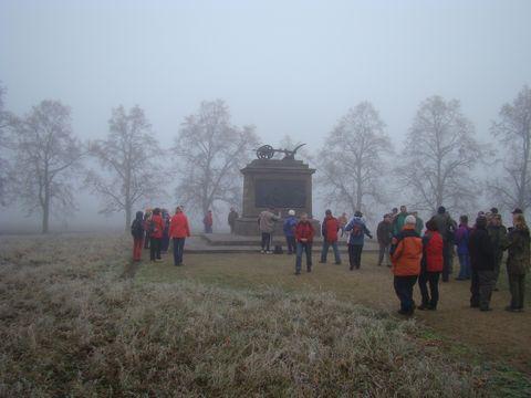 Královské pole s památníkem Přemysla Oráče