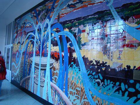 mozaika z roku 2005 v budově OA v Teplicích