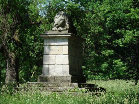 Spící lev u České Skalice