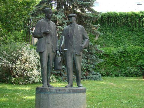 bratři Čapkové v Malých Svatoňovicích