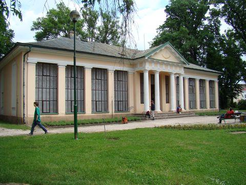 Raisův památník v zámeckém parku v Lázních Bělohradě