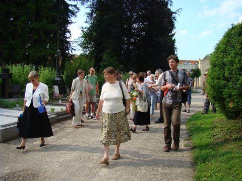 zástupci odborů KČT z celé oblasti Vysočina se seąli na jihl.ústředním hřbitově