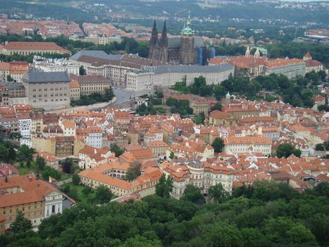 pohled z Petřínské rozhledny
