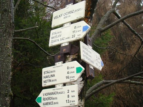 od r.2005 je vyznačená zelenou značkou nová trasa
