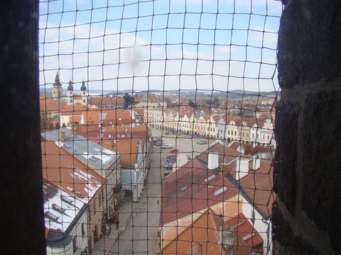 pohled z věze sv. Ducha na centrum Telče