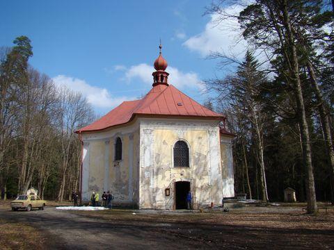 poutní kostel sv. Anny u Pohledu