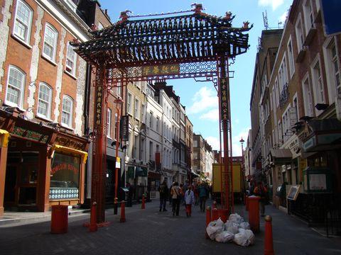 čínská čtvrt v Londýně