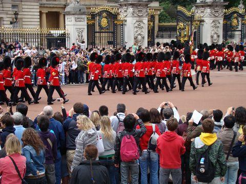 u Buckinghamského paláce