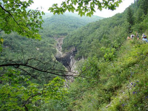 kaňon v Monkové dolině