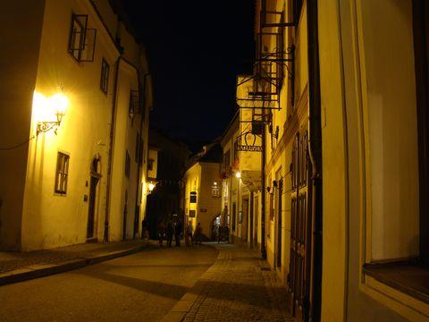 večer v Českém Krumlově