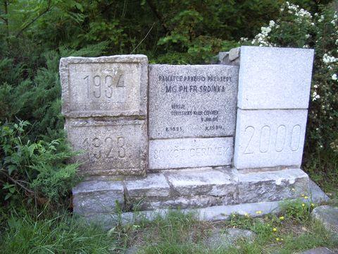 památník zakladateli Klubu turistů v Jihlavě Mgr.Srdínkovi