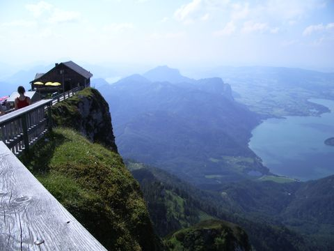 pohled z vrcholku Schafbergu