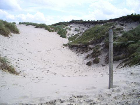 duny na západě ostrova