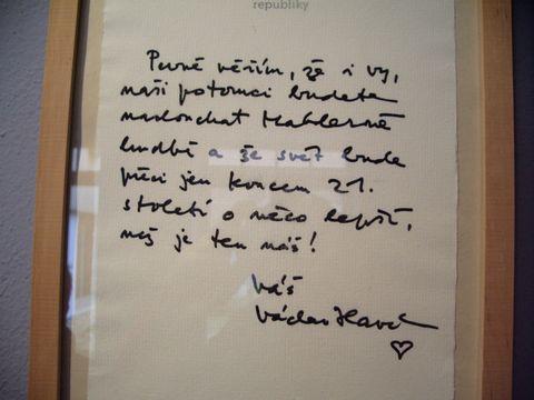 Václav Havel navątívil Mahlerovo rodiątě