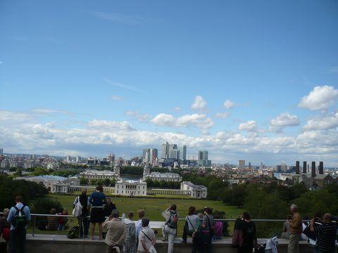 pohled na Londýn z greenwichské terasy