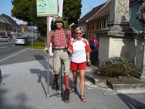 turista z opačného konce světa