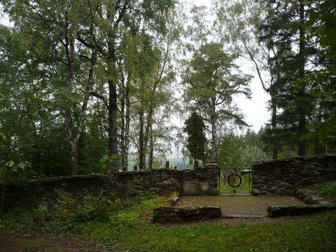 vchod na zidovský hřbitov u Kamenice n/L