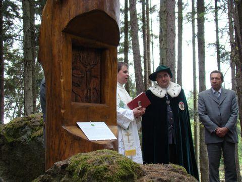 slavnostní proslovy při odhalení pomníčku sv. Huberta