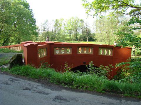 Červený most na Muchovce mezi Nepomukem a Klásterem