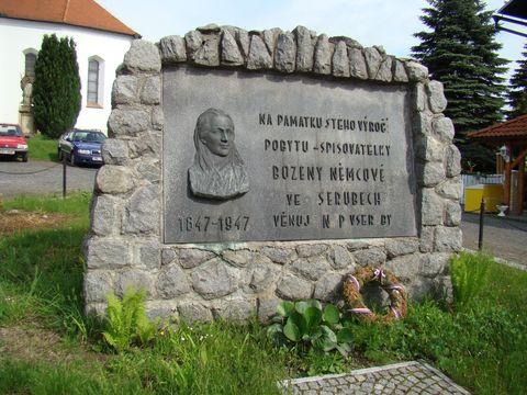 památník B. Němcové ve Vserubech