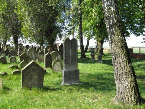 na zidovském hřbitově v Úsově