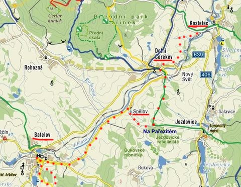 trasa z Kostelce přes Cerekev do Batelova 26.2.2011