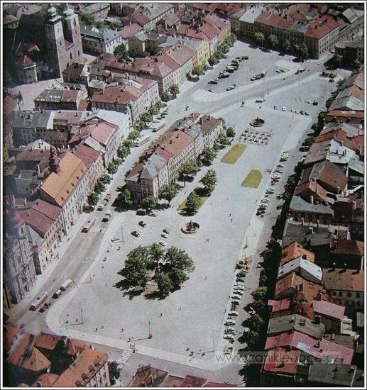 jihlavské náměstí v roce 1970