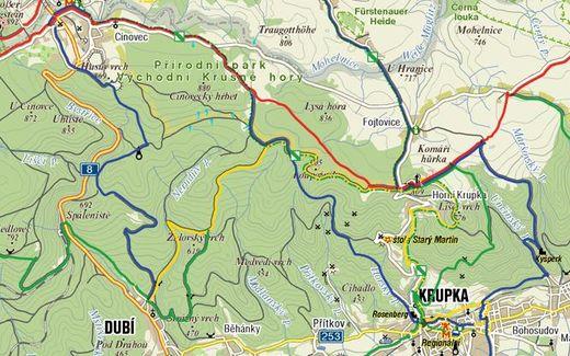 trasa v Krusných horách
