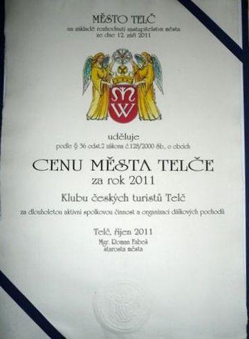 Cena města Telče pro KČT