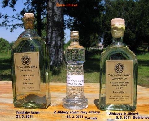 vzorky vody z řeky Jihlavy
