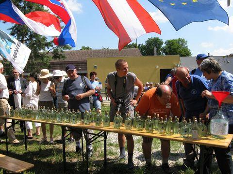 82 lahviček se vzorky z řek a pramenů v povodí řeky Moravy