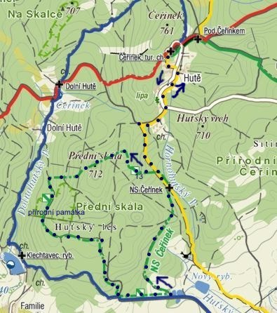 nedělní trasa naučnou stezkou Čeřínek