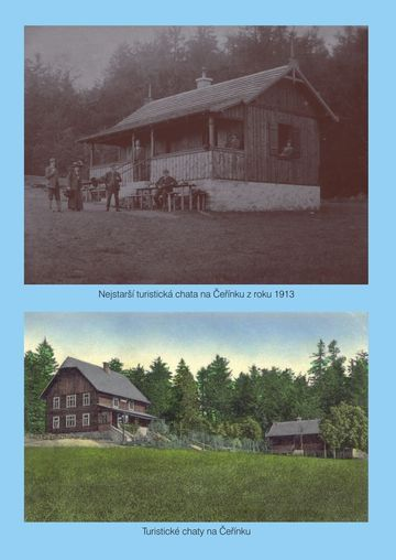 vnitřní (přední) strana obálky, chaty v roce 1923