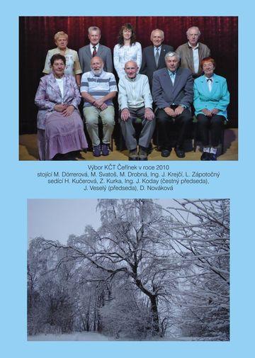vnitřní (zadní) strana obálky, výbor OKČT Čeřínek v r. 2010