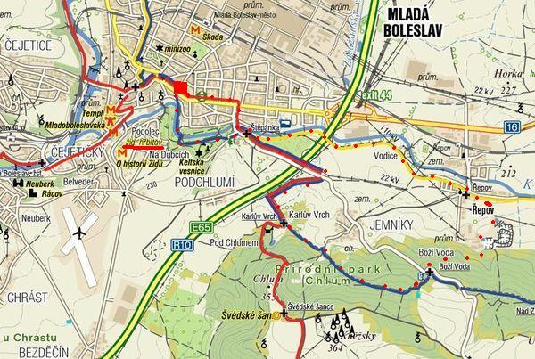 nedělní trasa kolem Mladé Boleslavi