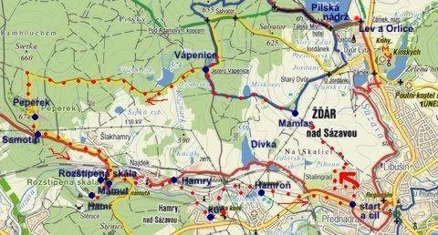 trasa okolím Žďáru 13.8.2011