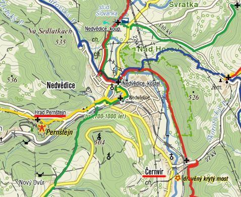 prohlídka mostu v Černvíru a okolí hradu Pernštejna