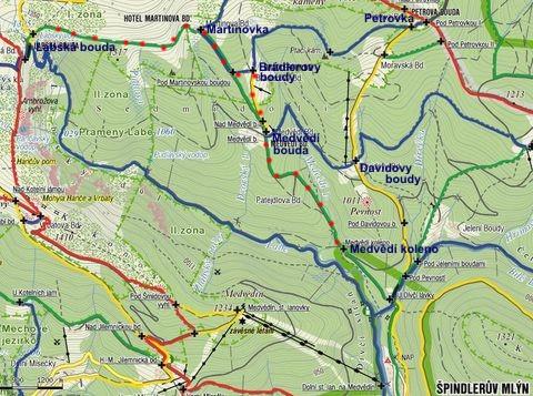 pěší a lyžařská trasa 10.3.2011