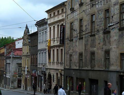 Znojemská ulice, část blízko spodního náměstí