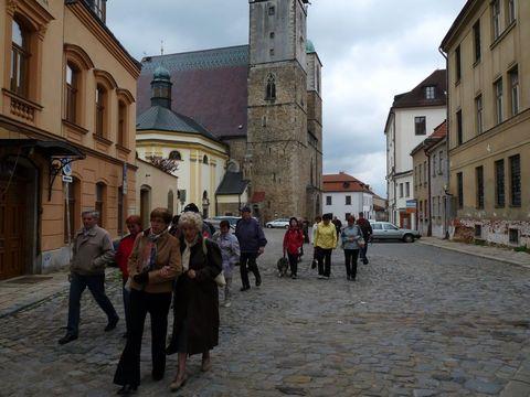 okolí Svatojakubského kostela se po stu letech příliš nezměnilo...