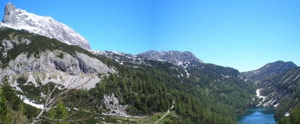 celkový pohled na oblast kolem Steirersee