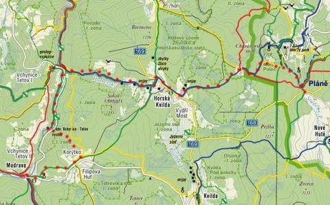 trasa z Plání do Modravy