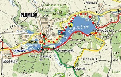 vycházka kolem přehrady v Plumlově 17.11.2011