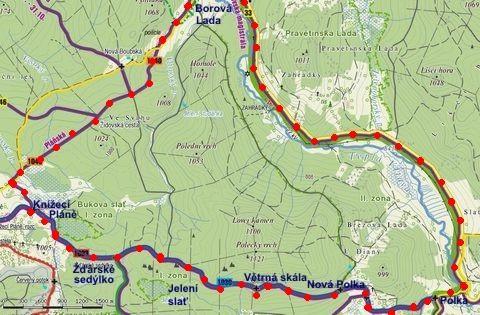 cyklookruh přes Knížecí Pláně a Polku do Borových lad - 16.7.2011