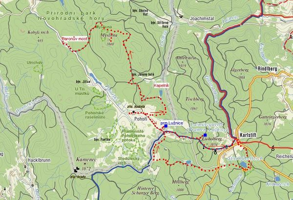 trasa 20.8.2009 - prameny Luznice