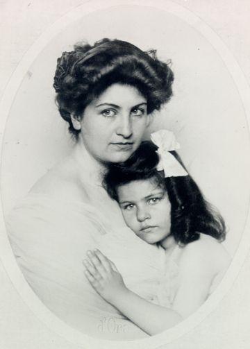 Alma Mahlerová s dcerou Annou