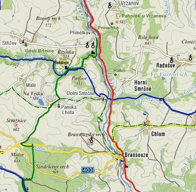 trasa Přímělkov-Bransouze