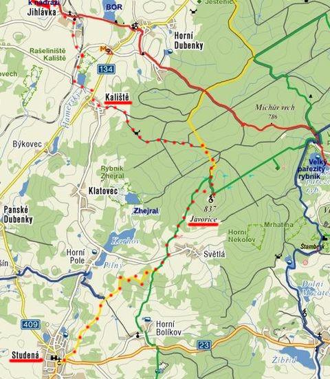 silvestrovská trasa ze Studené na Javořici v roce 2010