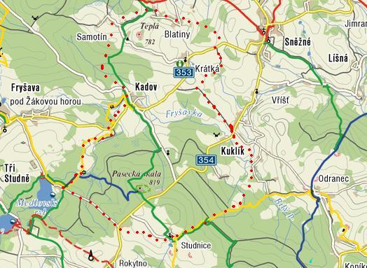 trasa přes Blatiny zpět do Studnic