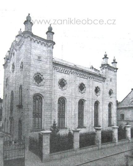 jihlavská synagoga, zničená v březnu 1939